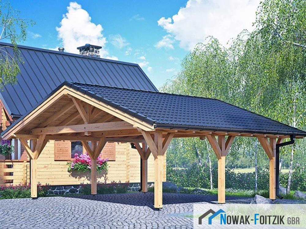 holzh user und mobilheime nowak foitzik gbr carport texas i lxb 640 x 510 cm. Black Bedroom Furniture Sets. Home Design Ideas
